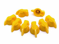 Yellow Chicken Head Knobs x 8 white stripe Guitar & Audio Valve Amplifier knob
