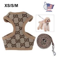 Dog Harness Leash Set Walk Puppy Pet Fashion Accessories Clothes Walking M S XS
