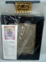"""Searsport Rug Hooking Kit Primitive Flower Box Hook & Hang 11-1/2 x 13-1/2"""" Frmd"""