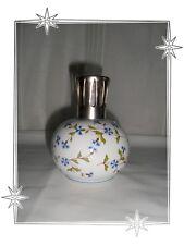 Lampe Berger Diffuseur de Parfum d'Ambiance Blanc Motif Bleuets
