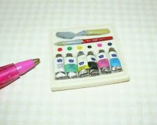 Miniature Tray of Artist's Paint Tubes Set/Supplies: DOLLHOUSE 1:12 Scale