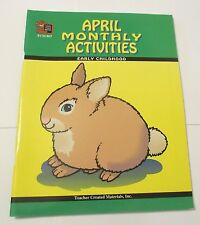 APRIL MONTHLY ACTIVITIES FOR KINDERGARTEN, GRADE 1 (1ST, FIRST)  NEW