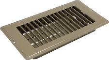 "Mobile Home RV 4""x8"" Brown Metal Floor Register Vent Air Diffuser RLS248 4x8"""