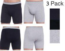 3 Mens BOXER BRIEFS SOFT COMFORT Underwear COTTON Blended King #3260 2XL XXL