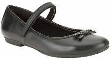 Clarks Older Girls Black Leather School Shoes KIMBERLY SKY 3 - 7 FGH Fit BNIB