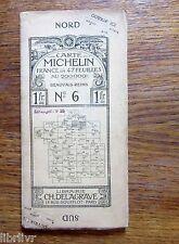 CARTE MICHELIN PREMIERE EDITION  N° 6 Beauvais Reims