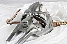 Acciaio Gladiatore Maschera Viso Forgiato a Mano Sca-Larp-Helmet