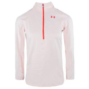 Under Armour ColdGear 1/2 Zip Top UA Graphic Ladies Light Pink Sports Running S
