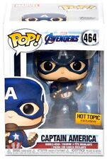 Funko Pop Hot Topic Exclusive Marvel Avengers End Game #464 Captain America!