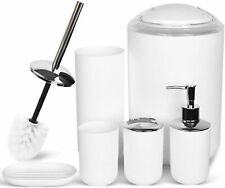 Bathroom Accessories Set Bath Ensemble Includes Soap Dispenser Toothbrush Holder