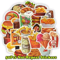 50Funny Food Skateboard Stickers bomb Laptop Luggage Decals Graffiti Sticker