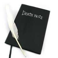 Large20.5*14.5cm + Feather Pen Theme Death Note Cosplay Notebook School Hot Sale