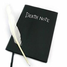 Anime Theme Death Note Cosplay Notebook School Large 20.5*14.5cm + Feather Pen