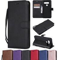 Retro Leather Magnetic Folio Case Wallet Protective Cover For LG V20 V30 V40