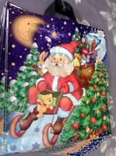 Merry Christmas , Printed Plastic Carrier Bags With Santa 43x46x53cm