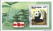 Nicaragua Bloque 141 (edición completa) usado 1981 philatokyo `81