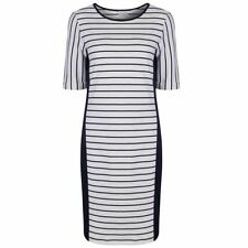 Marks and Spencer Cotton Crew Neck Striped Dresses for Women