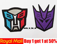 Transformers Decepticon Cartoon Patches Badges Iron On Sew On