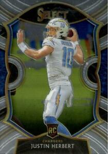 2020 Panini Select Justin Herbert Concourse Level Base Card LA Chargers #44 ROY