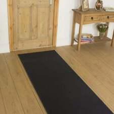 307cm X 80cm - Cheap Clearance Hall Hallway Carpet Runner Mat - Plain Dark Grey