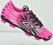 Umbro Kids Size ARTURO 3.0 Pink Cleats Black White