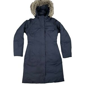 The North Face Goose Down HyVent Parker Coat Size S UK 8 Dark Blue