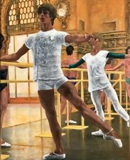 OriginalAcrylic Painting: Young male ballet dancer at the barre,2018 Signed