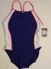 NWT Swimsuit NIKE Athletic 1pc Womens Sz 12 / 38 Chlorine Resistant TCSS0060