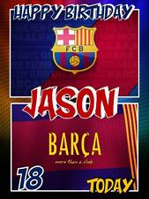Personalised Barcelona FC Barca Football Birthday Greeting Card & Envelope 491