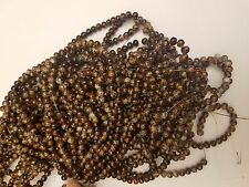 Spray Painted Glass Beads, Round, Coconut Brown, 6mm, Hole: 1mm   Qty 30