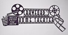 Custom Home Theater Sign with Clapboard and Movie Reel Home Theater Decor Metal