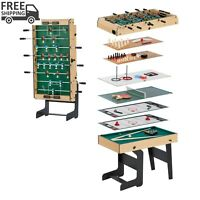 16 in 1 Folding Junior Multi Game Table w/ Accessories Table Tennis Games Room