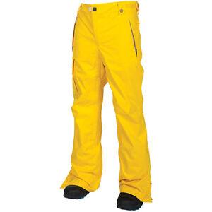 Men's 686 Six Eight Six Mannual Data Snow Ski Snowboard Pants Yellow Size 2XL