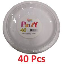 1000 Pcs 9 Inch White Disposable Plastic Dinner Plates 230mm Party Wedding Cheap
