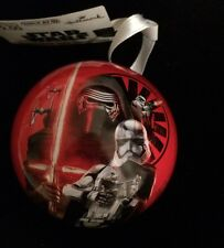 """NEW 2015 Star Wars VII FORCE AWAKENS 8"""" ROUND HOLLOW CORE ORNAMENT CHRISTMAS"""
