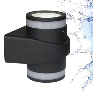 LED Wall Lamp IP65 10W 230V Outdoor Inside Bath Black