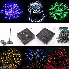 100-300 LED Solar Power Fairy String Light Party Garden Outdoor Christmas Tree