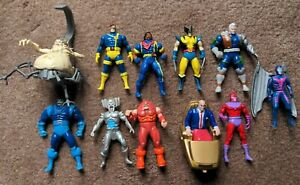 Toy Biz Lot X-Men Marvel Steel Mutants Mojo Cable Apocalypse Bishop Wolverine X