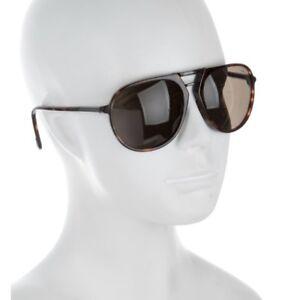TOM FORD Designer Henri Tortoiseshell Brown Aviator Plastic Sunglasses Unisex