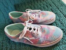 Women's Vans Off The Wall Athletic Shoes Tie Dye Light Pale Colors Sz 9.5