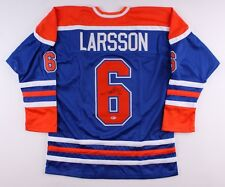Adam Larsson Signed Oilers Jersey (Beckett) 4th Overall Pick 2011 NHL Draft