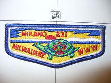 OA Mikano Lodge 231 S-5a 1970s,80s,LONGER,Swis Flap,8,636 Kanwa Tho,Milwaukee,WI
