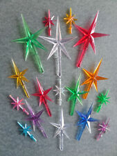 CERAMIC CHRISTMAS TREE STARS *3 SIZES* PLASTIC CERAMIC TREE STARS TREE ORNAMENTS