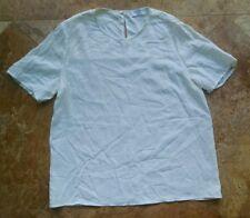 Everlane 100% silk square top, white ivory, 6