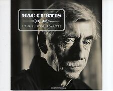 CD MAC CURTIS	songs i wish i wrote	MINT  (B1771)