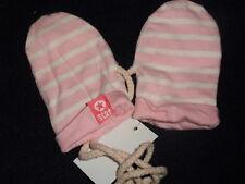NEU Babyhandschuhe Größe: 50 56 Handschuhe Fauster Fäustlinge ROSA WEISS neu