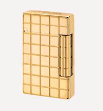 NEW S.T. Dupont - Initial - Golden / Gold Bronze Grid Finish - Lighter 020801 ST