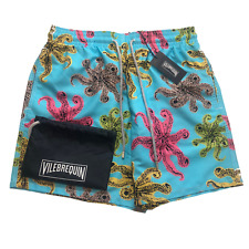 Vilebrequin Mens Swim Shorts - Moorea Classic Cut Octopus Swimwear