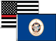3x5 Usa Thin Red Line Minnesota State 2 Pack Flag Wholesale Set Combo 3'x5'