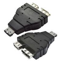 Eg _ 1Pc Esata a USB Combo Splitter Adattatore Convertitore Connettore Dual Port